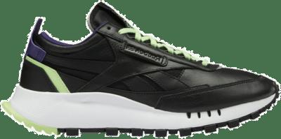 Reebok Classic Leather Legacy Schoenen Black / Neon Mint / Dark Orchid FY7554