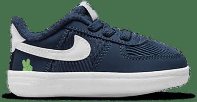 Nike Force 1 Crib SE CB Midnight Navy/White-Lime Glow  DB4078-400