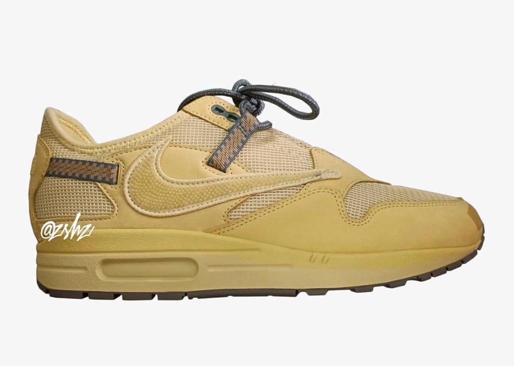 Bekijk de eerste beelden van de Nike Air Max 1 x Travis Scott 'Wheat' sneaker