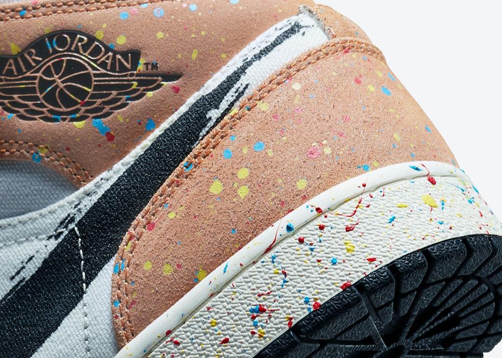 Artistieke vibes dankzij de nieuwe Air Jordan 1 Mid 'Brushstroke'