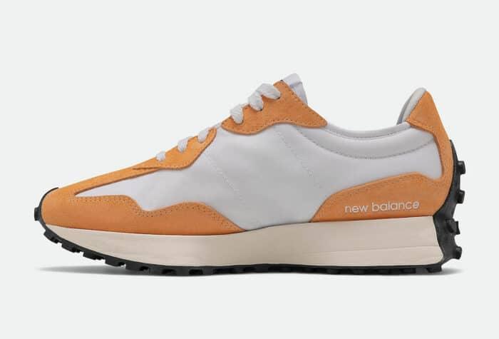 white orange new balance 327