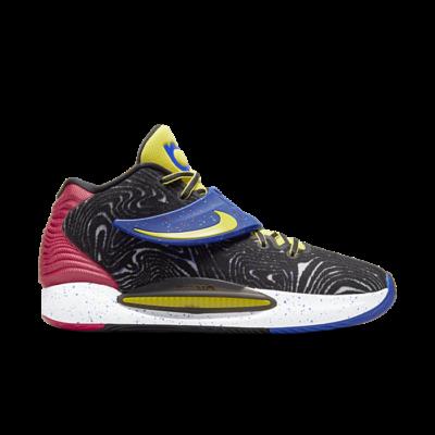 Nike KD 14 Black/Fusion Red-White-Yellow Strike black CW3935-004