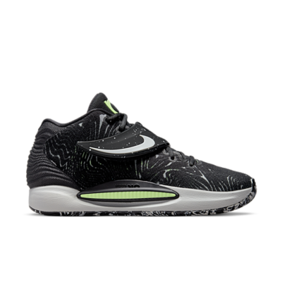 Nike KD 14 Black/Grey Fog-Lime Glow-White grey CW3935-005