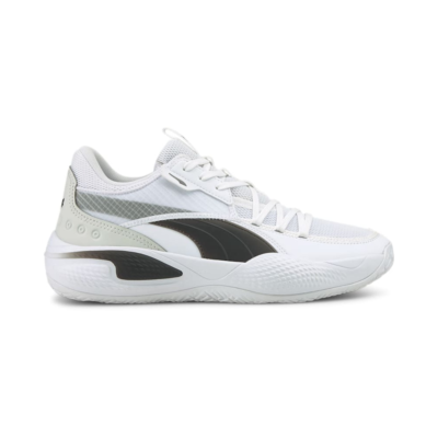 Men's PUMA Court Rider Team Basketball Shoe Sneakers, White/Black White,Black 195660_03