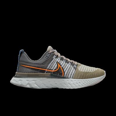 Nike React Infinity Run Flyknit 2 Light Bone Grey Orange DC4577-001