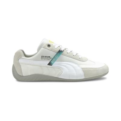 Men's PUMA Mercedes F1 SpeedCat Motorsport Shoe Sneakers, White/Silver White,Silver 306797_01