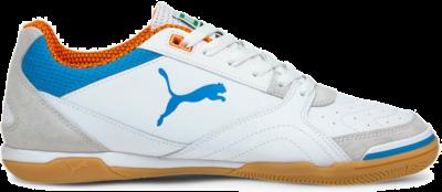 Women's PUMA Ibero Futsal Boots, White/Blue/Orange 106444_01