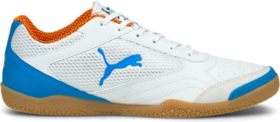 Women's PUMA Pressing Futsal Boots, White/Blue/Orange 106445_01