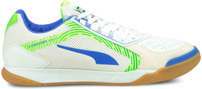 Men's PUMA Pressing II Futsal , White/Bluemazing/Green Glare 106568_02