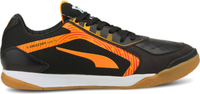 Men's PUMA Pressing II Futsal , Black/Orange Glow/Gum 106568_03