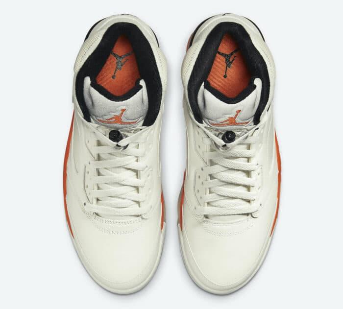 orange Air Jordan 5 shattered