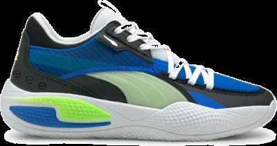 Women's PUMA Court Rider I Basketball Shoe Sneakers, Future Blue/Green Glare Future Blue,Green Glare 195634_01
