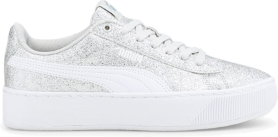 PUMA Vikky Platform Girls' s, Silver/Grey Violet/White Silver,Gray Violet,White 366856_12