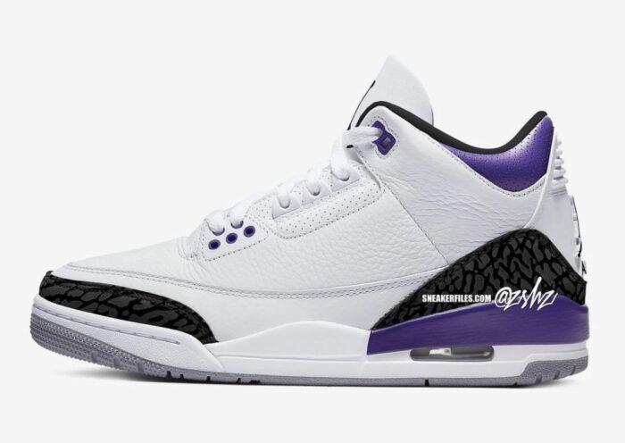 jordan 3 air white purple