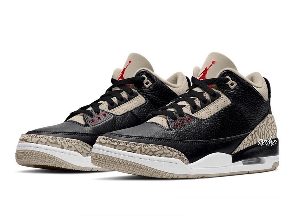 Krijgen we een vintage looking Air Jordan 3 Black Cement volgend jaar?