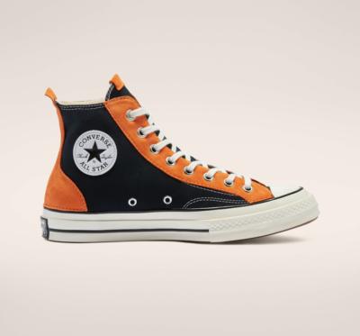 Space Vintage Chuck 70 zwarte en oranje suède 172915C