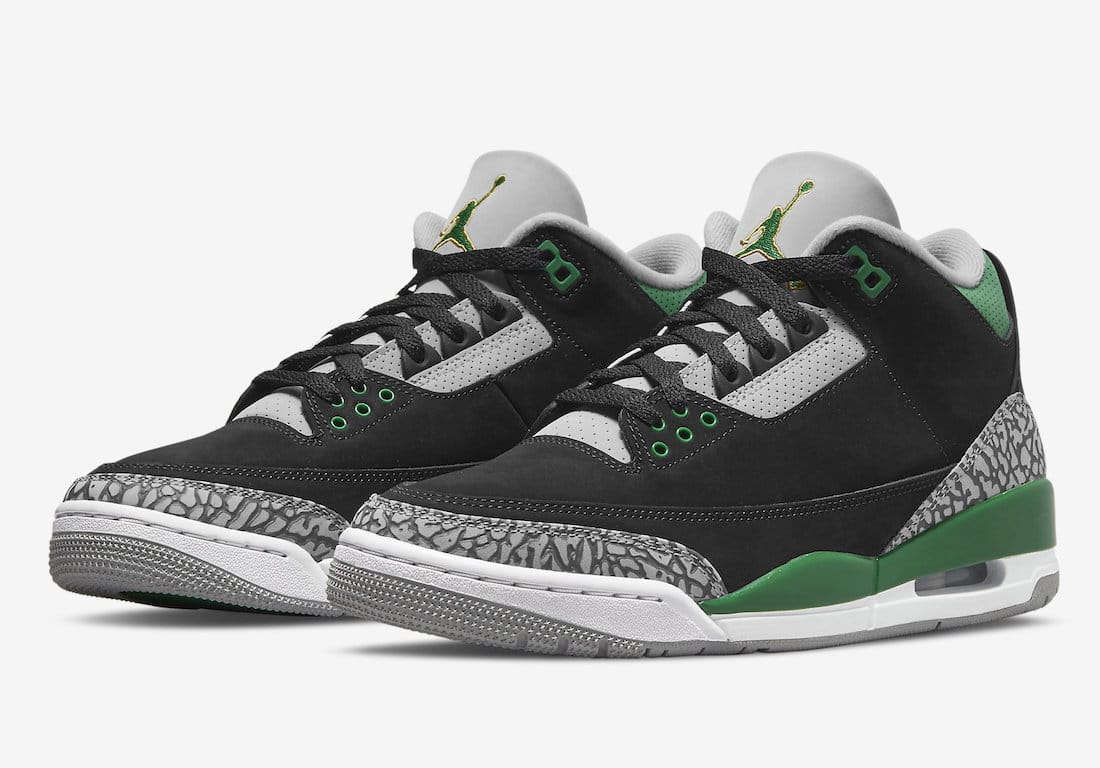 """Eindelijk gearriveerd: de officiële foto's van de Air Jordan 3 """"Pine Green"""""""