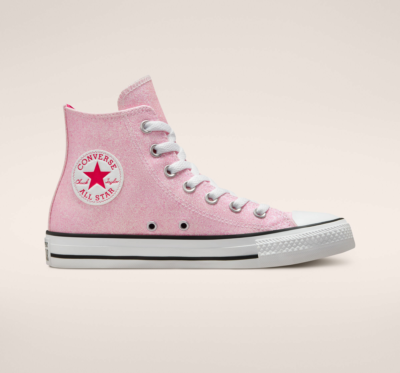 Authentic Glam Chuck Taylor All Star pink reflective/wit/wit 572045C